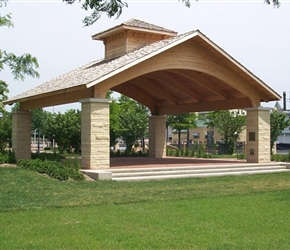 Wooden Park Shelters